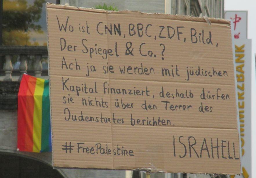 Anti-Israel Demo Stuttgart 25.07.2014
